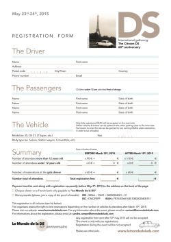 The Driver The Passengers The Vehicle Summary