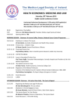 view programme - Medico-Legal Society of Ireland