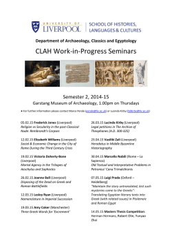 Work-in-Progress Seminar Series Programme, 2014-15