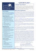 January 30 Newsletter - St. Scholastica Academy