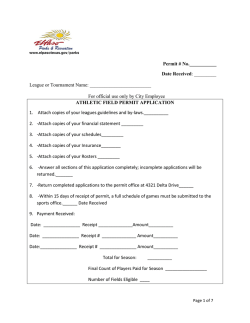 Sports Permit Application