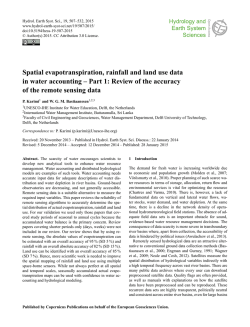 Spatial evapotranspiration, rainfall and land use data in water