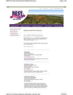 BEST Member Directory - Best Network Group of the Southern Tier NY