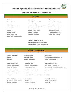 FAMU Foundation Board of Directors