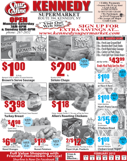 weekly specials - Kennedy Supermarket