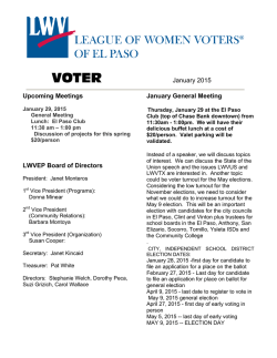 El Paso VOTER - League of Women Voters of El Paso