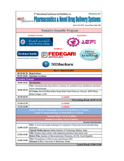 Tentative Program.xlsx - Pharmaceutica-2015