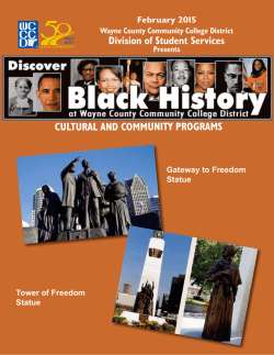 2015 Black History Month Programs