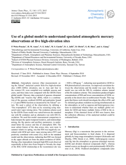 Use of a global model to understand speciated atmospheric mercury