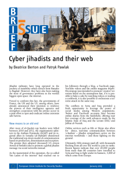 Cyber jihadists and their web - European Union Institute for Security
