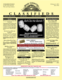 Wine Country Classifieds