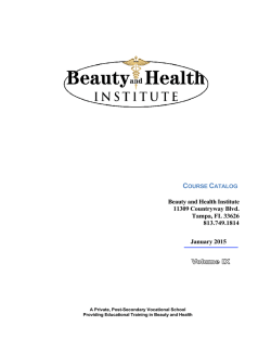 Catalog - Beauty and Health Institute
