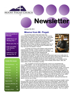 Newsletter - Mt. Pisgah UMC