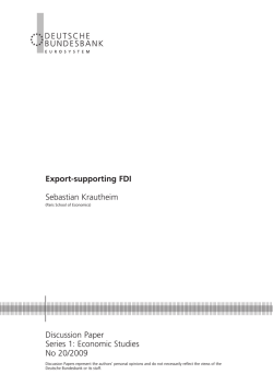 Export-supporting FDI