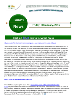 european commission daily news – friday 30 january