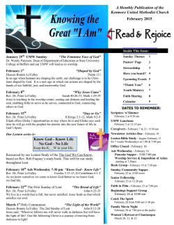 February 2015 Newsletter - Kenmore United Methodist Church