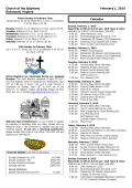 Bulletin - Church of the Epiphany