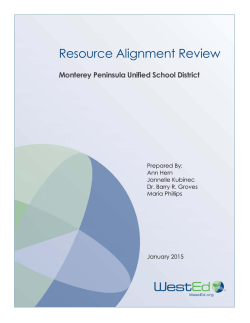 Resource Alignment Review - Monterey Bay Teachers Association