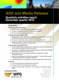 ASX and Media Release