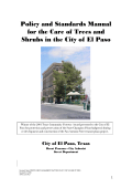 Tree Care Manual - City of El Paso