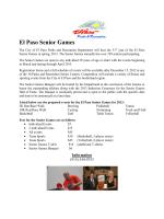El Paso Senior Games