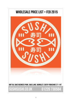 sushisushi Prices Feb 2015