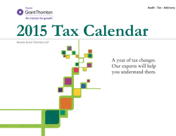 A year of tax changes. Our experts will help you understand them.