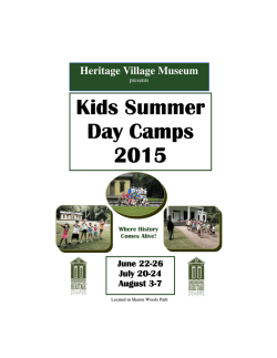 Kids Summer Day Camps Day Camps 2015 2015