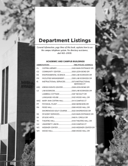 Department Listings - University of Wisconsin