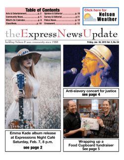 Friday, Jan. 30, 2015 - Kootenay Weekly Express