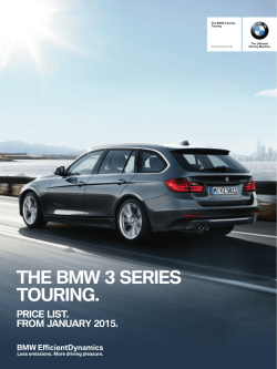 THE BMW 3 SERIES TOURING.
