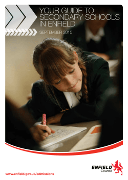 Your Guide to SecondarY SchoolS in enfield