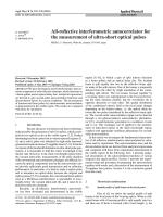 All-reflective interferometric autocorrelator fort