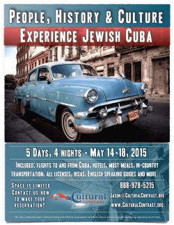 Experience Jewish Cuba - May 2015.pages