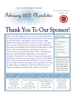 February 2015 - Lewis County Chamber of Commerce