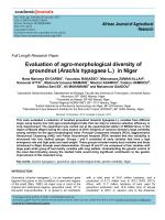 in Niger - Academic Journals