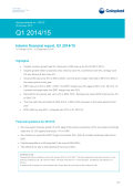 Announcement Q1 2014/15 Interim financial report