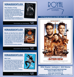 Programmflyer - Royal Filmpalast