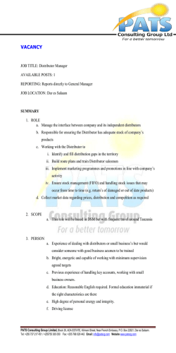 Position Description Document (download)
