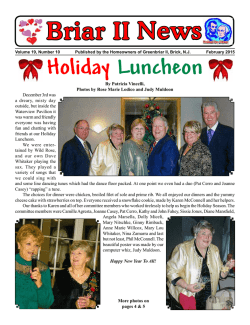 Briar II News Holiday Luncheon