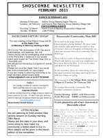 February 2015 News - Shoscombe Village Hall
