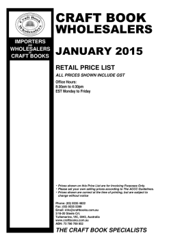 Price List - Retail Prices