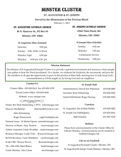 Bulletin 2/1/2015 - St. Augustine Catholic Church