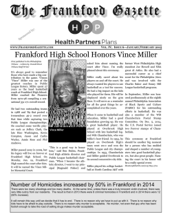 Frankford High School Honors Vince Miller