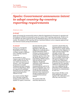 Spain: Government announces intent to adopt country-by