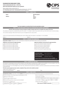 EXAMINATION ENROLMENT FORM