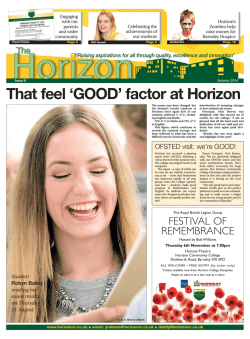 Newspaper Here - Horizon Community College