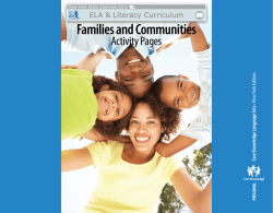 Domain 2 Families and Communities Activity Pages