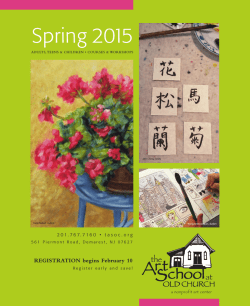 Spring 2015 - The Art School at Old Church