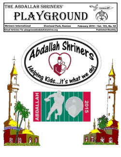 Playground Newsletter - Abdallah Shrine Temple